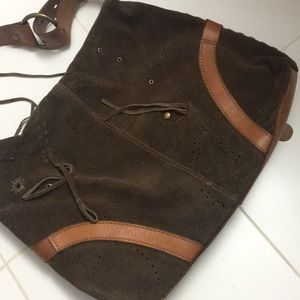 Lucky Brand Bags - Lucky Brand suede & leather bag